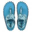 Dámské sandále Gumbies Slingback Turquoise