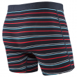 Pánské boxerky Saxx Vibe Boxer Modern Fit Dk ink coast stripe