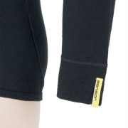 Pánské triko Sensor Merino Wool Active d.r.-detail rukávu-černé