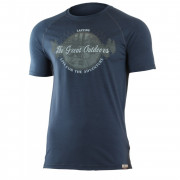 Pánské funkční triko Lasting Lucas-barva modrá