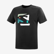 Pánské triko Salomon Outlife Graphic Disrupted Logo Ss Tee M