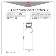 Láhev Keith Titanium Sport Bottle 700 ml