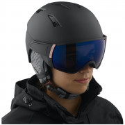 Dámská lyžařská přilba Salomon Mirage S Black/rose