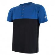 Pánské funkční triko Sensor Merino Air PT knoflíčky modrá/černá