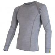 Pánské triko Sensor Merino Wool Active d.r.-čelní pohled-šedé