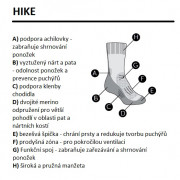 Dámské Ponožky Icebreaker W Hike_Cool-Lite 3Q Crew