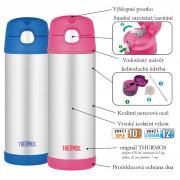 Dětská termoska s brčkem Thermos Funtainer 470 ml