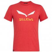 Pánské triko Salewa Solidlogo Dri-Rel M S/S Tee - tango red melange