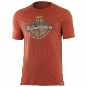 Pánské funkční triko Lasting Lucas-barva cihlová