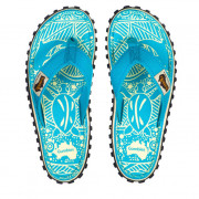 Dámské žabky Gumbies Islander Turquoise Pattern