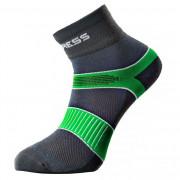Ponožky Progress CYC 8CE Cycling šedá/zelená