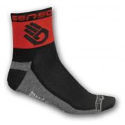 Ponožky Sensor Ruka červená