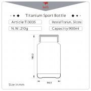 Láhev Keith Titanium Sport Bottle 900 ml
