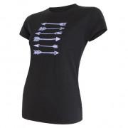 Dámské triko Sensor Merino Wool PT Šípy kr.r. černé