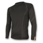Pánské triko Sensor Merino Wool Active d.r.-čelní pohled-černé