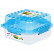 Box na potraviny Sistema Square Lunch Stack TO GO 1,24l