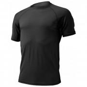 Pánské funkční triko Lasting Quido-černé-čelní pohled