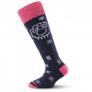 Dětské ponožky Lasting SJW - černo/červené