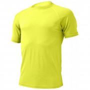 Pánské funkční triko Lasting Quido-žluté-čelní pohled