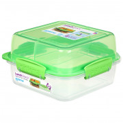 Box na potraviny Sistema Square Lunch Stack TO GO 1,24l