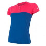 Dámské funkční triko Sensor Merino Air PT knoflíčky modrá/růžová