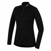 Dámské funkční triko Husky Merino zip, dl.rukáv černá