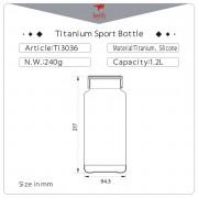 Láhev Keith Titanium Sport Bottle 1,2 l