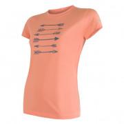 Dámské funkční triko Sensor Coolmax Fresh Šípy kr.r. oranžová