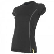 Dámské triko Sensor Merino Wool Active kr.r. černá