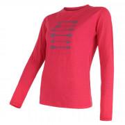 Dámské triko Sensor Merino Wool PT Šípy dl.r. růžová