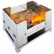 Nerezový gril na dřevěné uhlí Esbit BBQ 300S
