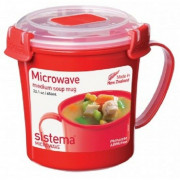 Hrnek Sistema Microwave Medium Soup Mug Red