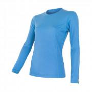 Dámské triko Sensor Merino Wool Active dl.r. modrá