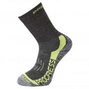 Ponožky Progress XTR 8MR X-Treme Merino tm.šedá/zelená