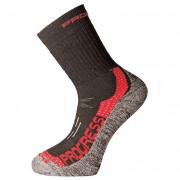 Ponožky Progress XTR 8MR X-Treme Merino černá/červená