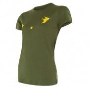 Dámské funkční triko Sensor Merino Wool Swallow kr.r. tmavě zelená