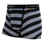 Boxerky Sensor Merino Wool Active černý pruh