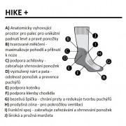 Dámské Ponožky Icebreaker W Hike+ Light Crew