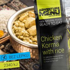 Hotové jídlo Adventure Menu Kuře Korma s rýží 400 g