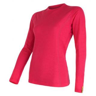Dámské triko Sensor Merino Wool Active dl.r. magenta