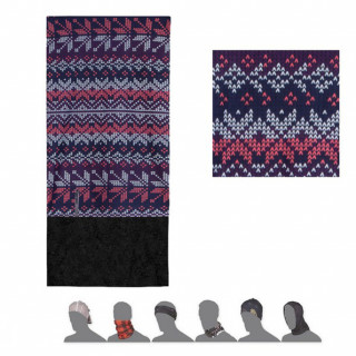 Multifunkční šátek Sensor Tube Fleece vločky multicolor