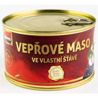 Vepřové maso ve vlastní šťávě Veseko 400 g
