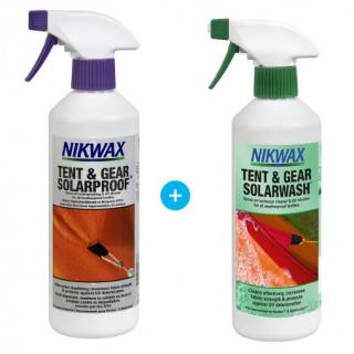 Set Impregnace a čistič Nikwax Tent & Gear 500 ml