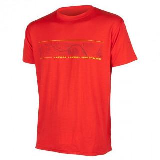Pánské triko Sensor Merino Wool PT GPS červené
