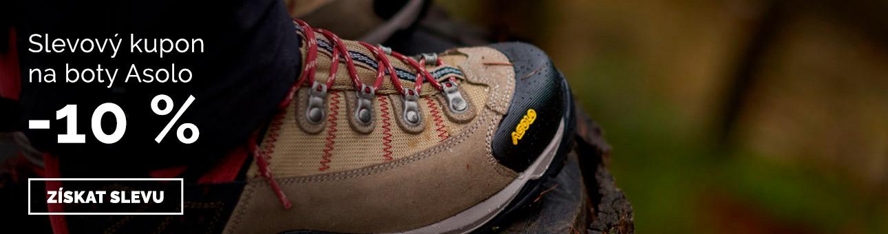 SLEVOVÝ KUPON -10 % na boty Asolo