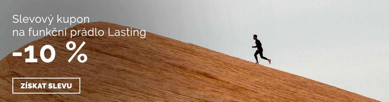SLEVOVÝ KUPON -10 % na funkční prádlo LASTING