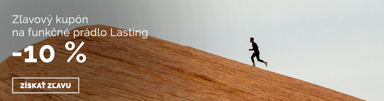 ZĽAVOVÝ KUPÓN -10 % na funkčné prádlo LASTING