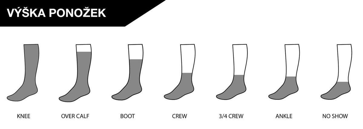 Výška ponožiek Bridgedale