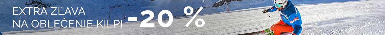 EXTRA ZĽAVA na oblečenie KILPI -20% - zimní