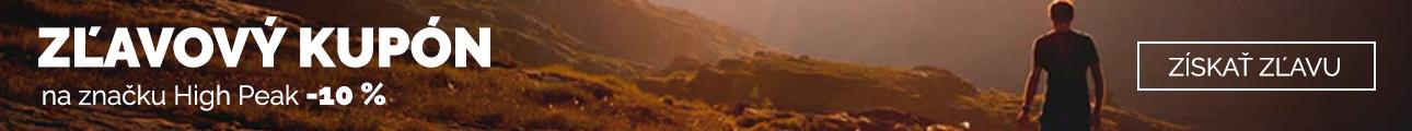 Extra zľava - Zľava 10% na značku High Peak